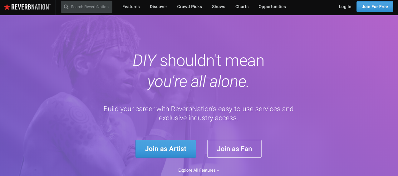 music sites for musicians reverbnation
