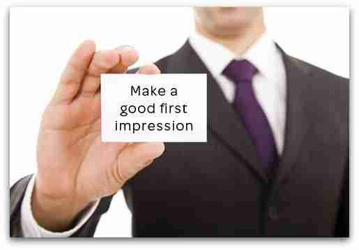 make a good impression