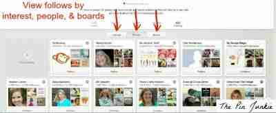 see who is following you on Pinterest