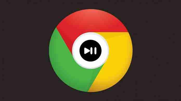 Google chrome tests play-pause button