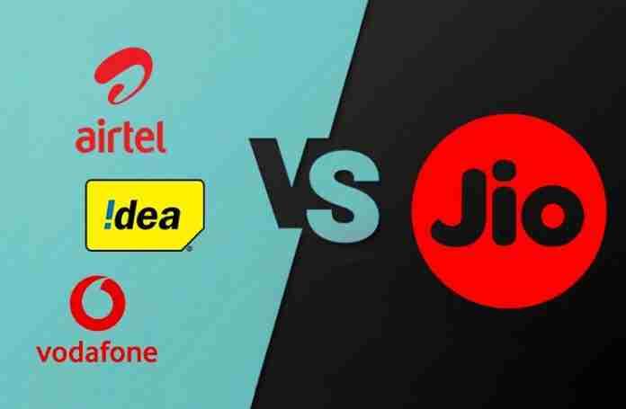 Airtel, vodafone, Idea vs Jio